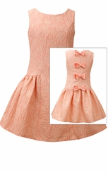 Bonnie Jean Big Girl's Coral Bow Back Dress