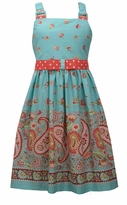 Bonnie Jean Big Girls' Aqua Paisley Print Sun Dress - SOLD OUT