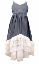 Bonnie Jean Big Girls Chambray Tiered Maxi Dress Girls 7-16 S44940 - SOLD OUT