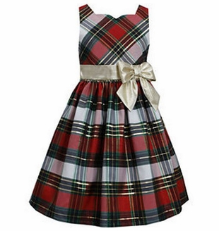 Bonnie Jean Big Girls Christmas Plaid Holiday Dress - SOLD OUT