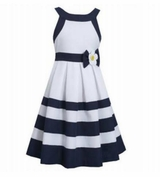 Bonnie Jean Big Girls Girls Navy Daisy Dress - SOLD OUT
