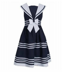 Bonnie Jean Girls Girls Sailor Dress 2T - 16