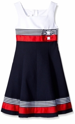 Bonnie Jean Girls Nautical Colorblock Dress