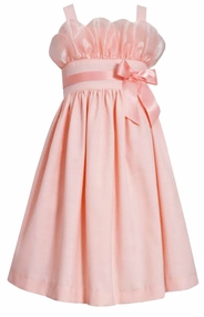 Bonnie Jean Big Girls Peach Party Dress 7 -16  CLEARANCE