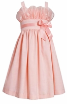 Bonnie Jean Big Girls Peach Party Dress 7 -16