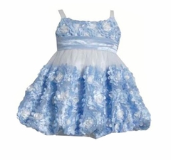 Bonnie Jean Big Girls Periwinkle Bonaz Bubble Dress
