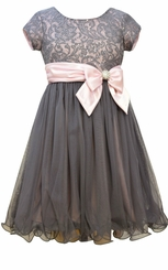 Bonnie Jean Big Girls Sequin Lace Special Occasion Dress