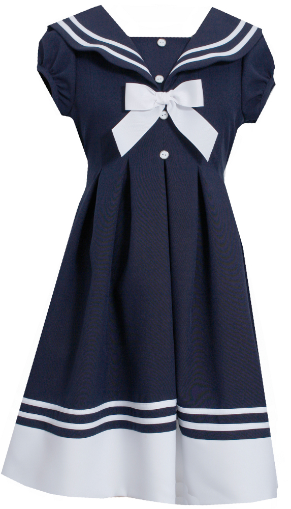 Bonnie jean girls short sleeve sailor dress 2t 16 view image