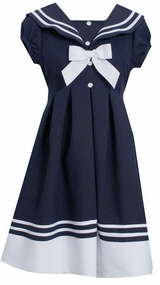 Bonnie Jean Big Girls Short Sleeve Sailor Dress - SOLD OUT