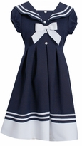 Bonnie Jean Big Girls Short Sleeve Sailor Dress