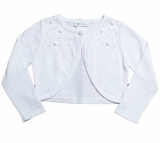 Bonnie Jean Big Girls White Cardigan Sweater