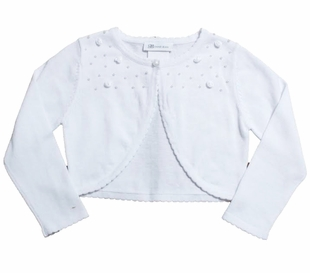 Bonnie Jean Big Girls White Cardigan Sweater - SOLD OUT