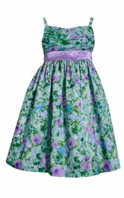 Bonnie Jean Bigs Girl Lavender Floral Party Dress