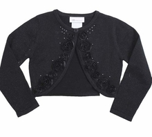 Bonnie Jean Black Cardigan - Girls Black Sweater - SOLD OUT