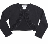 Bonnie Jean Black Cardigan - Girls Black Sweater
