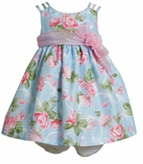 Bonnie Jean Blue Floral Infant Easter Dress