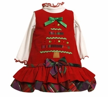 Bonnie Jean Christmas Tree Dress Newborn to Girls 6X   CLEARANCE FINAL SALE