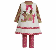 Bonnie Jean Christmas Baby Girls Ivory Joy Dress Set
