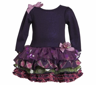 Bonnie Jean Collection: Purple Tiered Dress