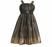 Bonnie Jean Collection: Special Occasion Sequin Mesh Emma Dress - SOLD OUT