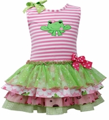 Bonnie Jean Froggy Tiered Party Dress