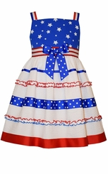 Bonnie Jean Girl's 4th of July Stars and Stripes Dress