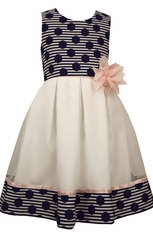 Bonnie Jean Girl's Pleated Dots Special Occasion Dress