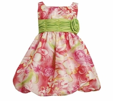 Bonnie Jean Girls 2T - 16  Pink Floral Bubble Dress  FINAL SALE