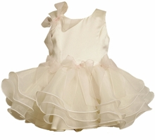 Bonnie Jean : Girls Dresses : Ivory Dress with Wire Hem FINAL SALE