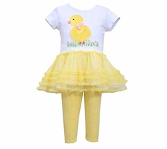 Bonnie Jean Girls Easter Chick Tutu Set