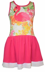 Bonnie Jean Girls Flamingo Sequin Sundress
