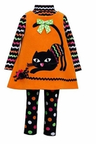 Bonnie Jean Girls Halloween Black Cat Dress Set