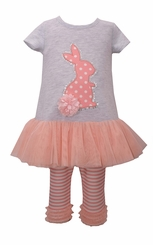 Bonnie Jean Girls Pink Bunny Tutu Set Easter Outfit