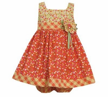 Bonnie Jean Girls's Orange Floral Printed Dress  CLEARANCE