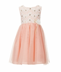 Bonnie Jean Girls Sequin-Embellished Bonaz-Bodice Tutu-Skirted Dress
