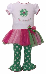 Bonnie Jean Girls St Patrick's Day Outfit Too Cute Legging Set