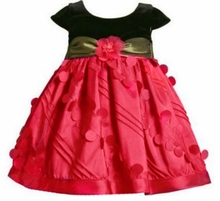 Bonnie Jean Holiday Dress - Red / Black Green Sash 18 month - 5