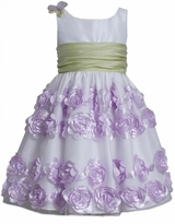 Bonnie Jean Lavender Crinkle Sash Dress