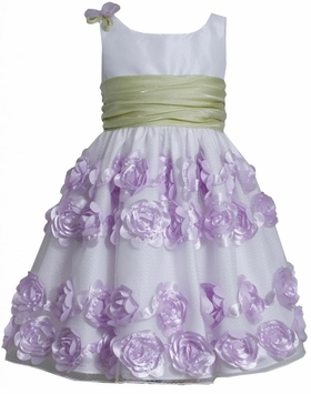 Bonnie Jean Lavender Crinkle Sash Dress SALE