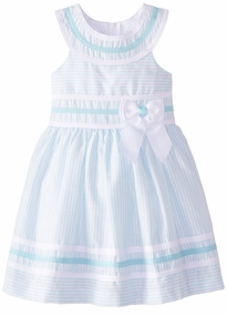 Bonnie Jean Little Girls Aqua Easter Dress
