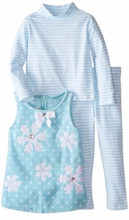 Bonnie Jean Little Girls Blue Snowflake Dress Set