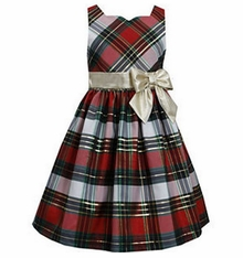 Bonnie Jean Little Girls Christmas Plaid Holiday Dress