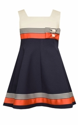 Bonnie Jean Little Girls Colorblock Nautical Dress