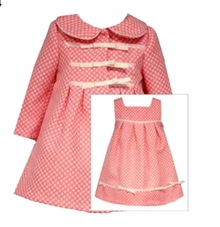 Bonnie Jean Little Girls Coral Coat Dress