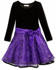 Bonnie Jean Little Girls' Diamond Embellished Bow Dress