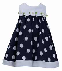 Bonnie Jean Little Girls Dress Dot Daisy
