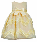 Bonnie Jean Little Girls Easter Dress:  Yellow Chiffon Bonaz Dress