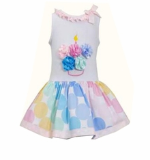 Bonnie Jean Little Girls' Flower Cupcake Birthday Dress