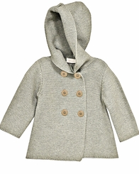 Bonnie Jean Little Girls Grey Cotton Cardigan Sweater Coat