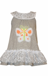Bonnie Jean Little Girls Grey Knit Butterfly Sundress